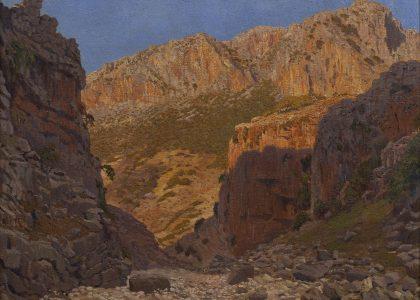 Rufino Martos Ortiz (Jaén, 1912 - Córdoba, 1993) El Barranco (Primer premio de 1945, sección óleos) Óleo sobre lienzo, 80x100 cm.