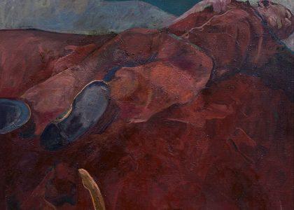 "Andrés Barajas Díaz (Huelma, Jaén, 1941 - 2006) La siesta (Segundo premio ""Pintor Zabaleta"" de 1969, sección óleos) Óleo sobre lienzo, 80x88 cm."