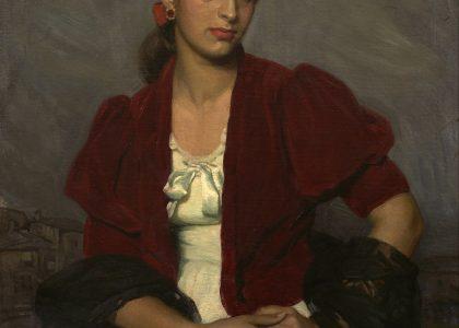 José Suárez Peregrín (Granada, 1908 - †) Carmen la gitana (Primer premio de 1956, sección óleos) Óleo sobre lienzo, 95x75 cm.