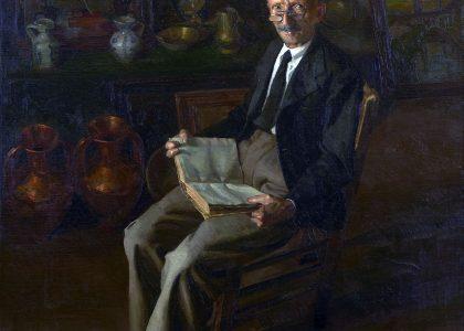 Amalio García del Moral (Granada, 1922 - Sevilla, 1995) Chamarilero (Primer premio de 1948, sección óleos) Óleo sobre lienzo, 162x146 cm