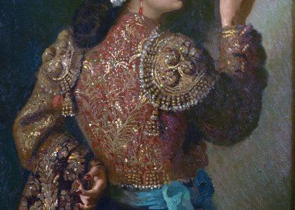Rafael González-Sáenz Lerdo de Tejada (Ayamonte, Huelva, 1903 - Madrid, 1962) Torera (Primer premio de 1947, sección óleos) Óleo sobre lienzo, 96x70 cm.