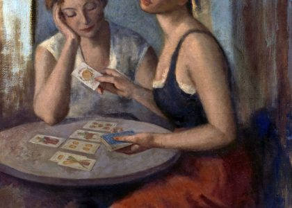 Pablo Coronado Martín (Motril, Granada, 1898 - Puerto de la Torre, Málaga, 1970) Marta y Beatriz (Primer premio de 1953, sección óleos) Óleo sobre lienzo, 100x85 cm.
