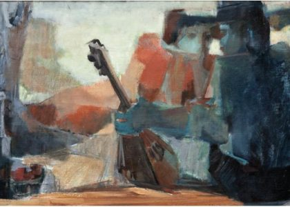 "María García ""Magar"". S/T. 1987. Óleo sobre tela. 51 x 101 cm. [Fuente: https://issuu.com/secacult_uja/docs/catalogo_magar_es-maria-garcia]"