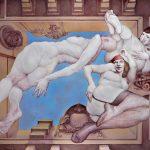 CIELO IMAGINADO PARA UN TECHO, óleo sobre lienzo, 200x257 cms