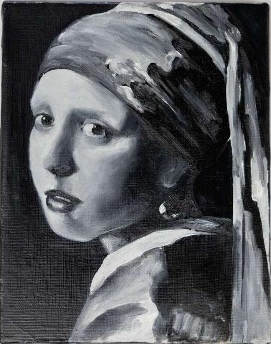 "Óleo sobre lienzo ""Lekker Moi"" 24 x 19 cm"
